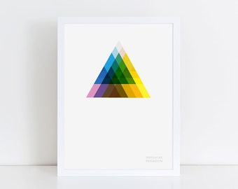 Triangle Overlay Geometric Giclee Print