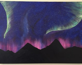 Auroral Display Acrylic on Canvas Painting