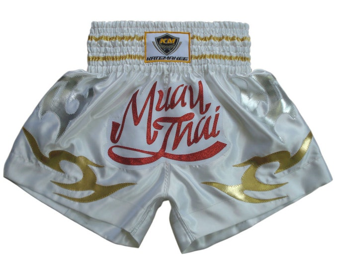 Kate Manee Muay Thai Boxing Shorts - WHITE