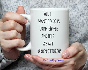 All I want to do is drink coffee and help #bjwt - MUG