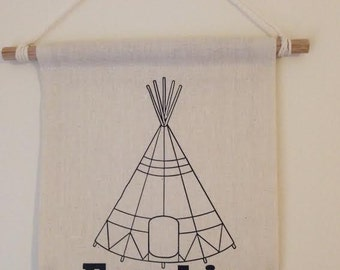 Personalised children's teepee banner