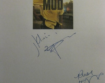 Mud Signed Film Movie Screenplay Script X2 Autograph signatures Matthew McConaughey Reese Witherspoon