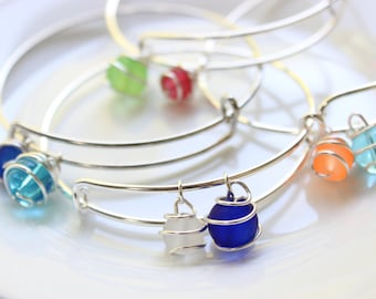 2 Bead Bangles (Various Color Options)