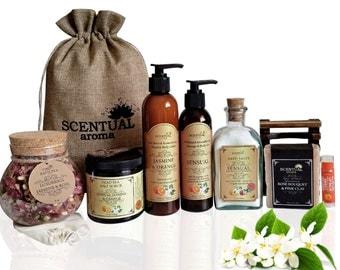 Organic Spa Set, ORGANIC Gift Set, Bath & Body Gift Set, Sensual Gift Set, Romantic Gift Set, Spa Gift Set, Gifts for Her, Birthday Gift