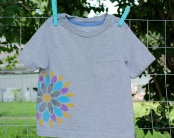 Hand Painted Upcycled Toddler's Tshirt
