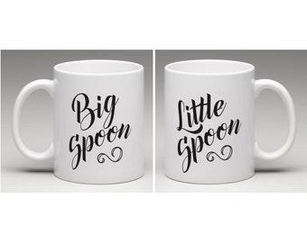 Big Spoon Little Spoon Mugs - Wedding / Engagement Gift