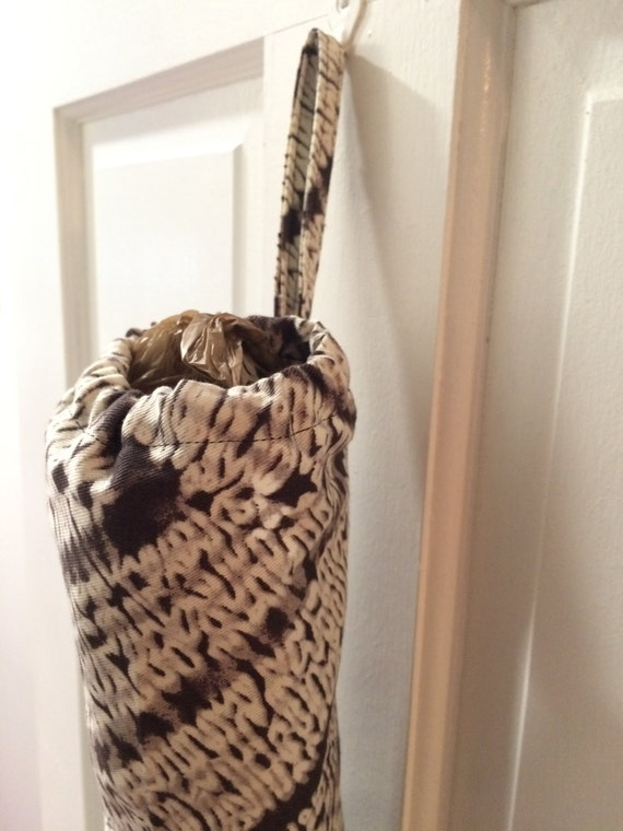 Hanging Plastic Bag Dispenser and Classy Storage for recycling Grocery Bags with Strap