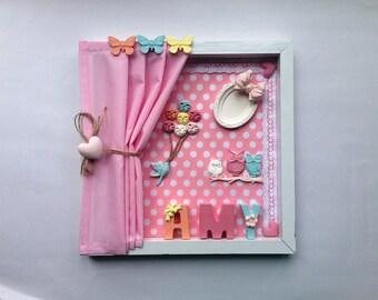 Nursery decor, nursery art, 3d nursery decor, wall hanging, baby shower gift, new baby gift, gift for kids