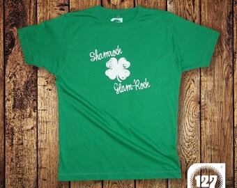 Men's T-shirt 'Shamrock Glam-Rock' – Green