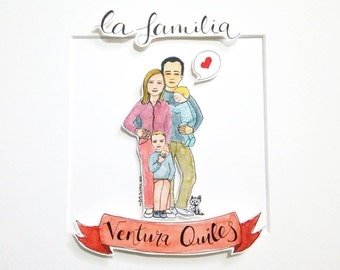 Family Custom Illustration