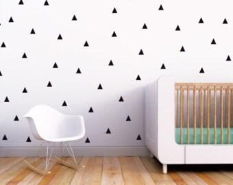 Triangle Wall Decal, Nursery Triangle Wall Decal, vinyl wall decal, Room Decor, wall decal, Boy Girl Wall Art, wall decor sticker