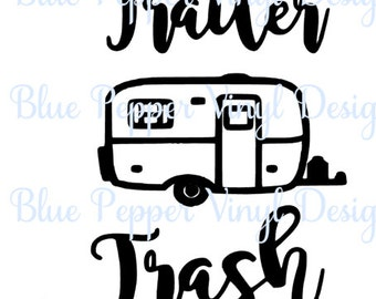 Trailer Trash Decal, Garbage Can, Camper Trash Can, Funny Decal, Trailer/Camping Decal, Office Trash Can