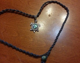 Hemp Turtle Necklace