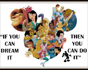 Disney Cross Stitch Pattern - PDF Download