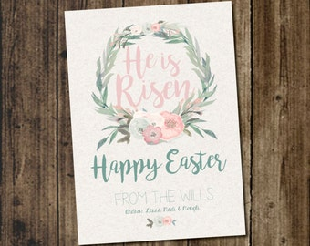 He is Risen DIY Printable Easter Card