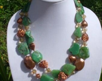 Australian Jade with Copper