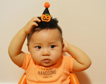 halloween headband, halloween headband baby, witch hat headband, pumpkin headband, witch hat hair clip, halloween accessory, baby halloween
