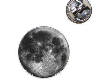 Full Moon Lapel Hat Tie Pin Tack