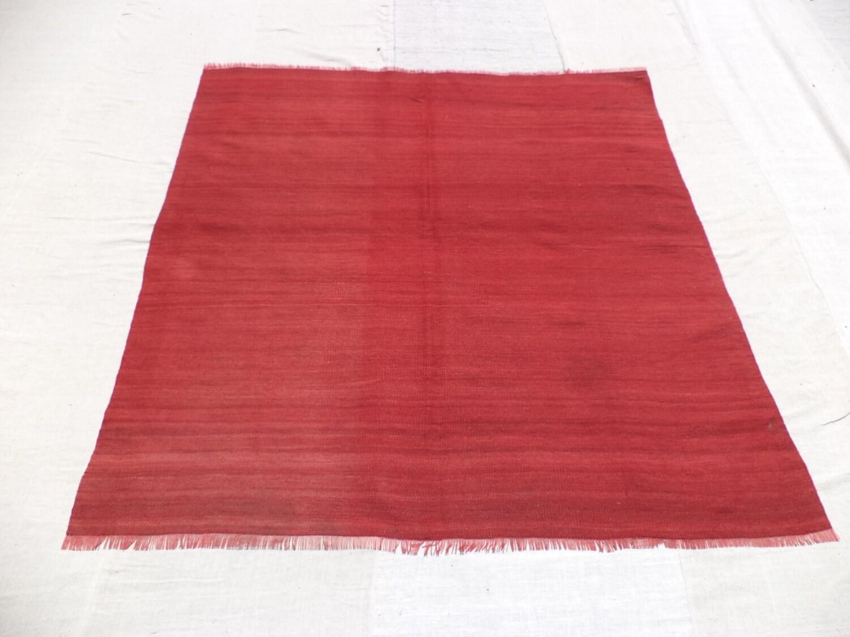 red kilim rug55x5 feet 166x153 cm vintage home decor by nadircraft. Black Bedroom Furniture Sets. Home Design Ideas