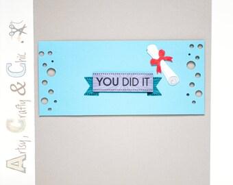 "Graduation Handmade Greeting Card ""You Did It"""