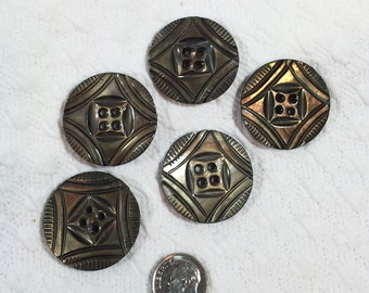 Large Shell Buttons - Vintage & Unusual