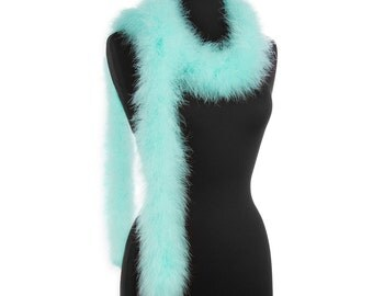 Aqua 25 Gram Marabou Feather Boas - Use as Trim or Wear as a Scarf