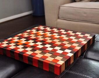 Checkered Butcher Block