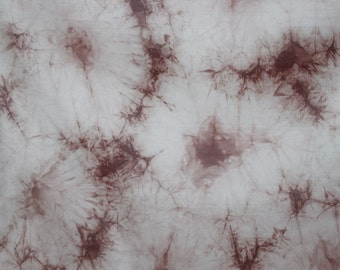 Brown Tie Dye 4 way stretch sheer Fabric
