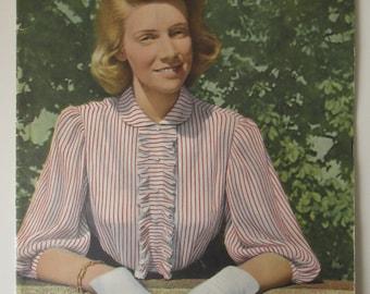 Vintage Hungarian Fashion Magazine with Pattern 1953