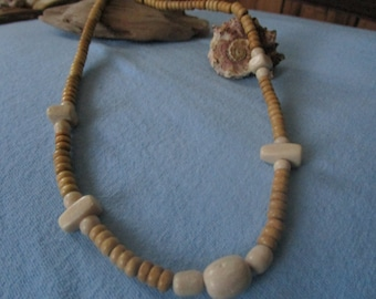 Mens Stone Necklace, can be worn with anything!