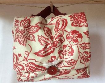 Small bag make-up bag red foliage