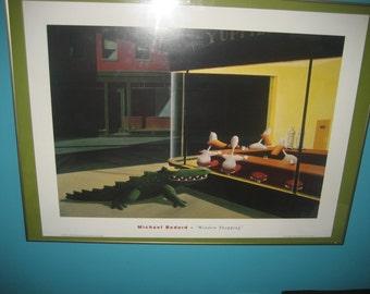 Michael Bedard WINDOW SHOPPING Lithograph UNFRAMED