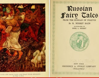 Russian Fairytales from Polevoi, 1915, A collection of enthralling   Russian Fairytales and folktales. Digital vintage ebook PDF.
