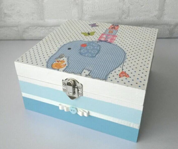 Baby Boy Gift Box : Baby boy memory box keepsake new gift