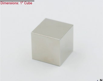 "1-Ct (Free Shipping) Neodymium N45 NdFeb Large Super Strong 1"" Cube Magnet"