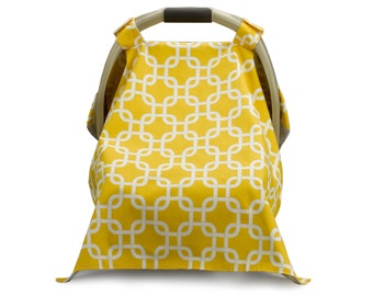 Monogrammed Carseat Carrier Cover - Sunny Yellow