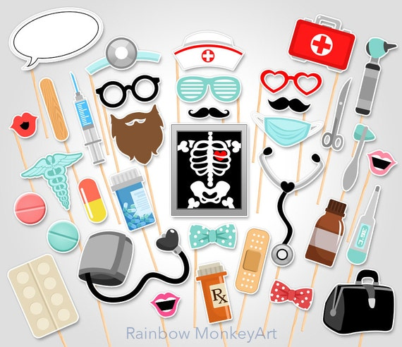 Doctor Printable Photo Booth Props - Nurse Photo Booth Props - Medical ...