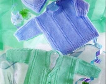 Knitting Pattern Baby sweater hat toddler jumper cardigan PDF Instant Download Nr.61