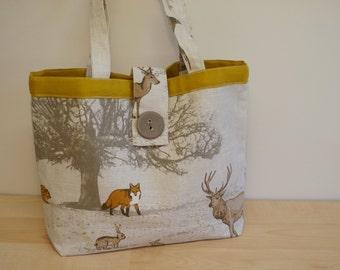 Cute Child's Woodland animal print handbag