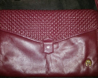 Vintage Burgundy Etienne Aigner Cross-body Purse