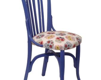 Indigo blue Chair SKULL collection.