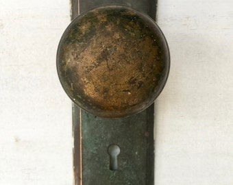 Vintage Verde Green Door Knob Wall Hook