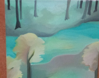Modern Abstract: Oil Painting, Trees