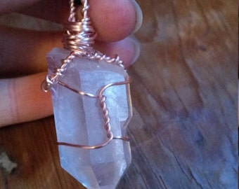 Wire Wrapped Clear Quartz