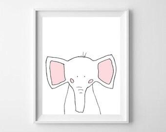 Elephant Printable Nursery Art,Printable Nursery,Elephant baby Room,Elephant Boys Nursery, Elephant Girls Nursery,Elephant Nursery Decor