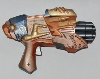 WORKING Nerf Gun Steampunk Cosplay Prop Weapon Post Apocalyptic Steampunk Costume Ideas Battle Shoots Micro Darts Steampunk Cosplay