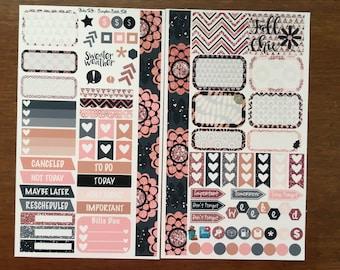 Fall Glitter Medium Personal MM Stickers Louis Vuitton Mambi Inkwell Press Filofax Kikki K Happy Life Planner LV blush gold black