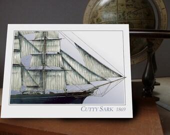 CS Cutty Sark 1869 - greeting card