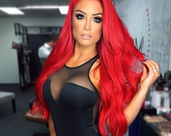 Fire red hair Clip in Extensions / Luxury Quality / 100% Human Hair Re-usuable Guranteed