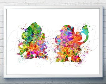 Disney Pixar Toy Story Mr and Mrs Potato Head Watercolor Poster Print - Watercolor Painting - Watercolor Art - Kids Decor- Nursery Decor